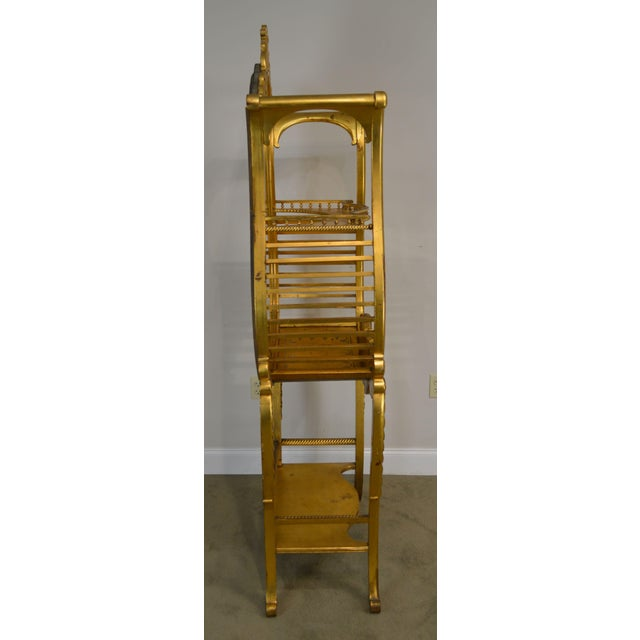 Mid 19th Century Victorian Era French Louis XV Style Gilt Mirror Back Etagere For Sale - Image 5 of 13
