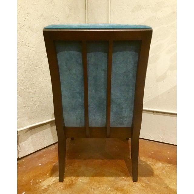 Ambella Home Blue Velvet Gigi Slipper Chairs -a Pair For Sale - Image 4 of 8