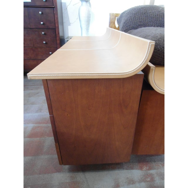 Giorgetti High Curved Leather Top Dresser - Image 4 of 5