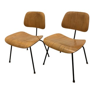 1950s Mid-Century Eames Dcm Dining Chairs Designed for Herman Miller - a Pair For Sale