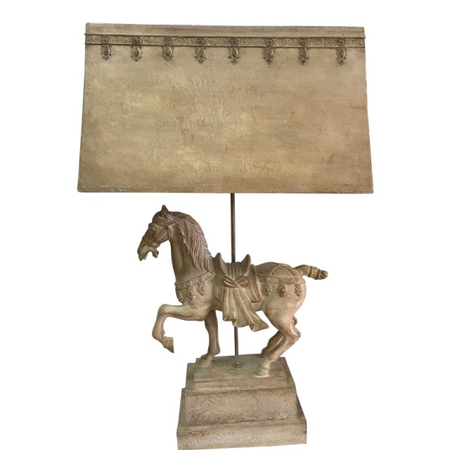 1940s Plaster Lamp of Imperial Horse - Image 1 of 8
