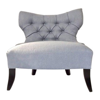 Billy Haines Style Mid-Century Tufted Slipper Lounge Chair