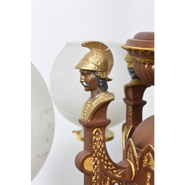 Four Arm Greek Revival Kolokotronis Chandelier For Sale - Image 10 of 11