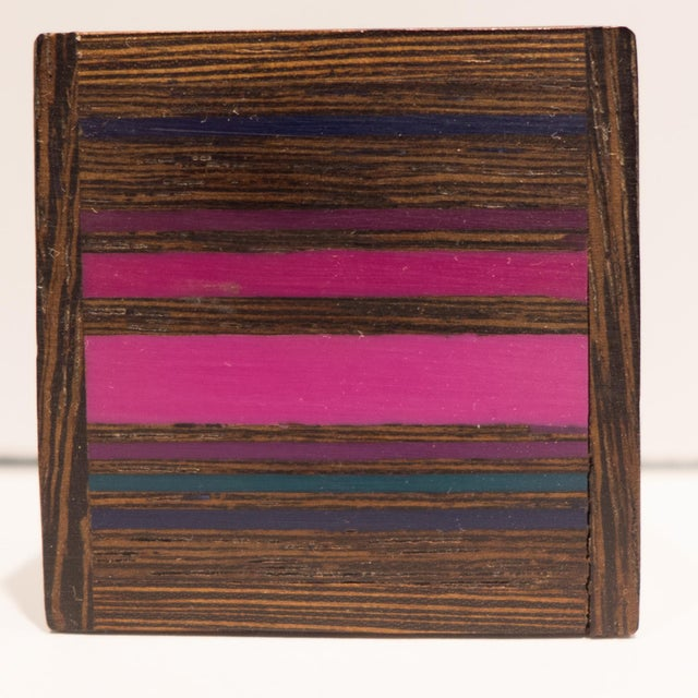 Robert McKeown Stamp Box with Stripes For Sale - Image 5 of 8