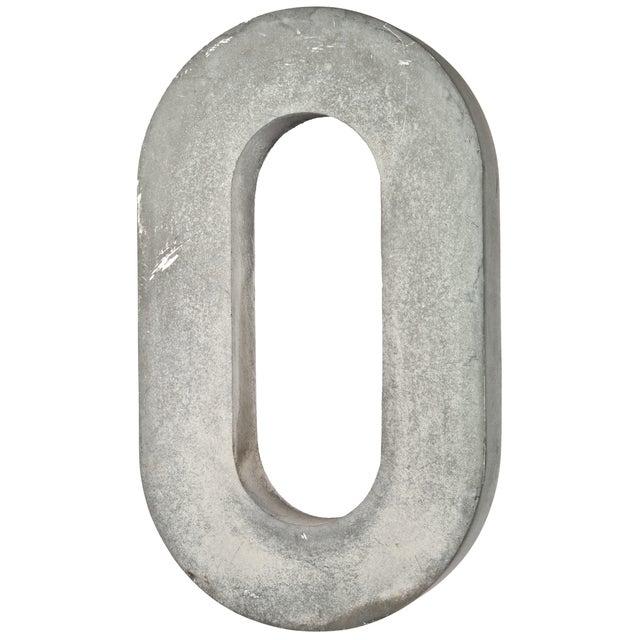 """Vintage 18"""" Cast Aluminum Sign Letter O - Image 1 of 2"""