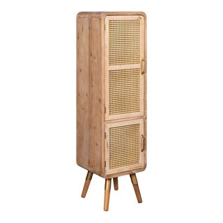 Shia Tall Cane Accent Cabinet For Sale
