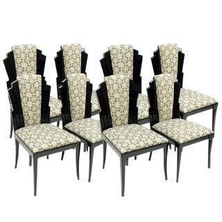 Set of 8 Handmade Dining Chairs by Vladimir Kagan for Vladimir Kagan Designs, Signed For Sale