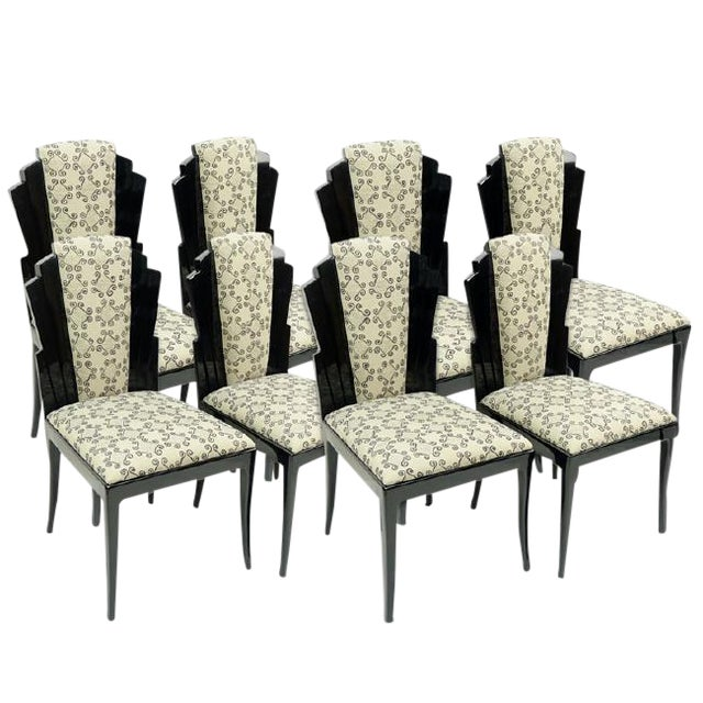 Set of 8 Handmade Dining Chairs by Vladimir Kagan for Vladimir Kagan Designs, Signed For Sale