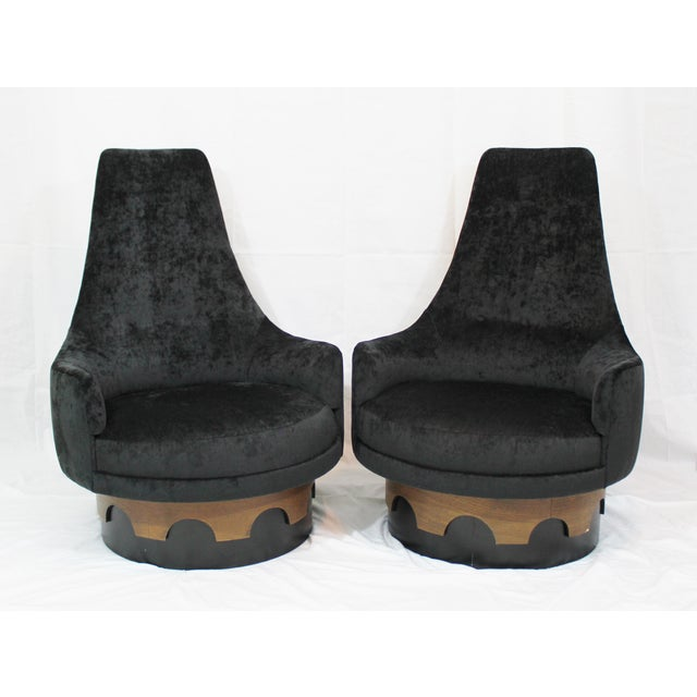 Adrian Pearsall King Swivel Chairs - A Pair - Image 2 of 4