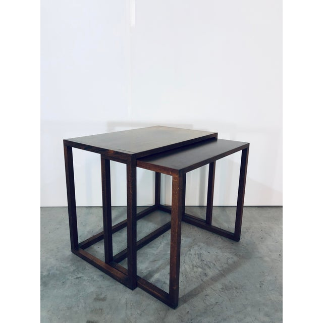 Karl-Erik Ekselius Nesting Tables for j.o. Carlsson - 2 Pieces For Sale - Image 11 of 13