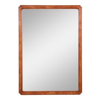 Henredon Oak Beveled Mirror For Sale