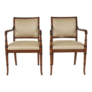 Italian Neoclassical Arm Chairs - a Pair For Sale