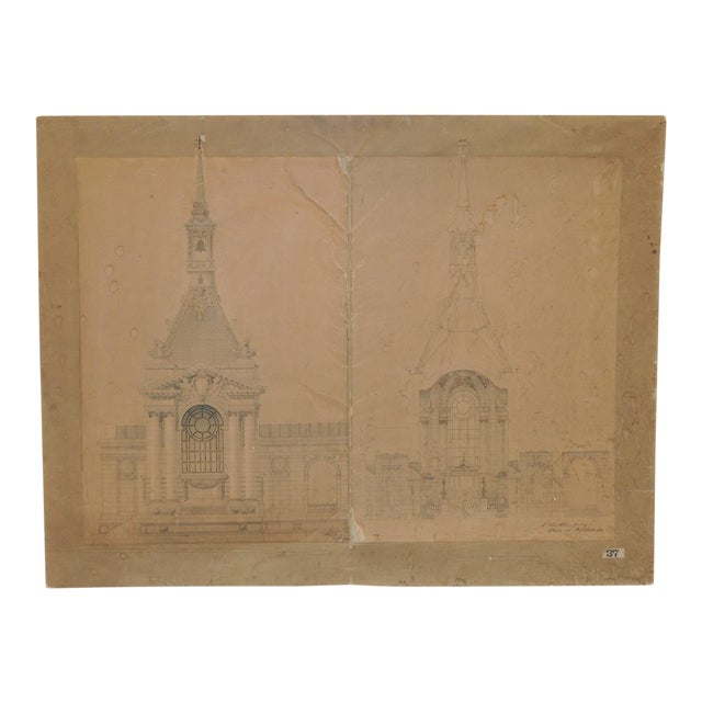 18th/19th Century Master Architectural Drawings For Sale