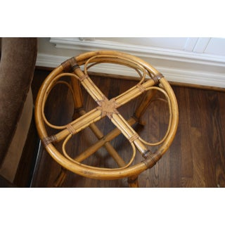 Mid-Century McGuire Style Rattan Bamboo Side Table / Small Coffee Table Preview