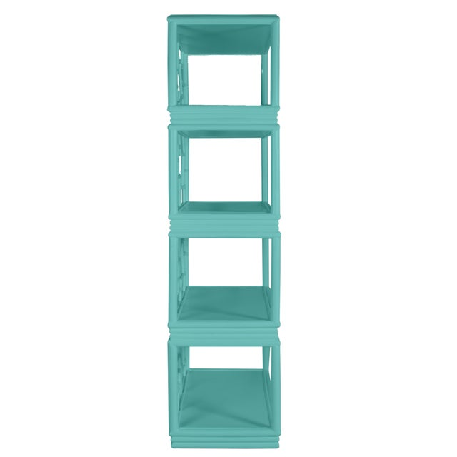 Not Yet Made - Made To Order Tibet Etagere - Turquoise For Sale - Image 5 of 7