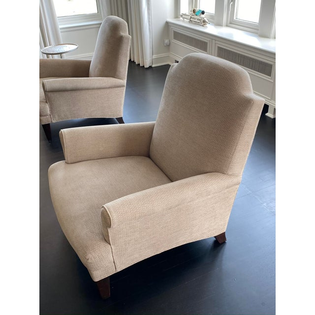 Traditional Holly Hunt Gray Chairs - A Pair For Sale - Image 3 of 9