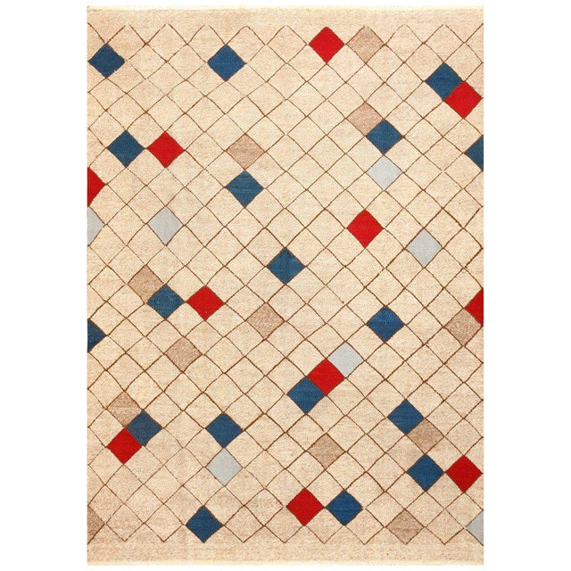 Textile Mid-Century Swedish Kilim Rug - 7′ × 9′9″ For Sale - Image 7 of 7