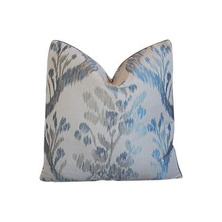 Custom Tailored Old World Weavers Jacquard Silk Feather/Down Pillow