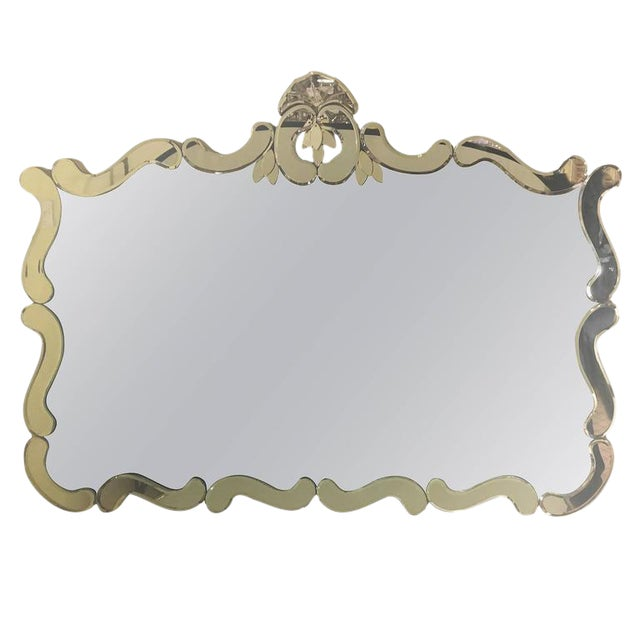 Venetian Style Over Mantle or Console Mirror For Sale