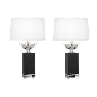 Williamsburg Tucker Estate Lamps by Robert Abbey - Pair of Two (2) For Sale