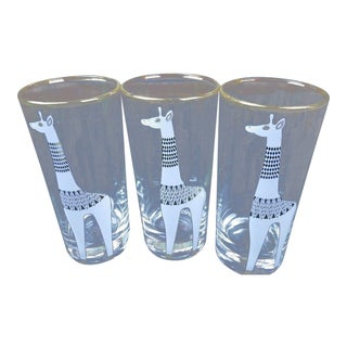 Jonathan Adler Happy Chic Giraffe Tom Collins Glasses - Set of 3 For Sale