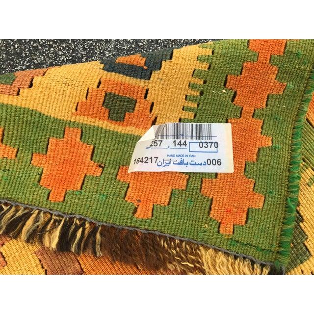 Rug & Kilim Qashqai Hand-Woven Kilim Rug, From Iran For Sale - Image 4 of 7