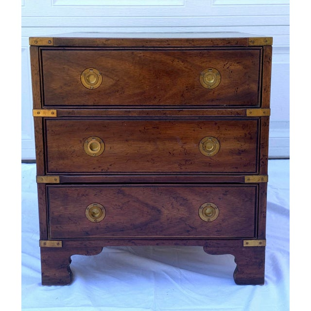 Heritage Mahogany 3 Drawer Chest Side Table For Sale - Image 10 of 10