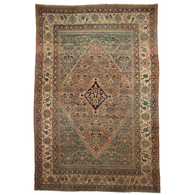 RugsinDallas Persian Hand Knotted Wool Mashad Rug- 10′9″ × 16′8″ - Image 1 of 2
