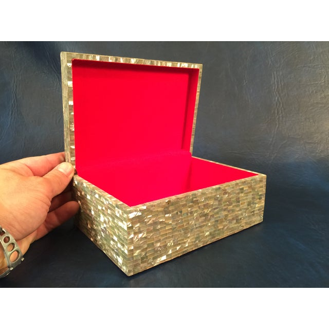 Tessellated Sea Shell Dresser Boxes - Set of 3 - Image 8 of 9