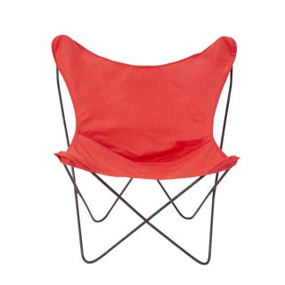 Vintage Mid Century Red Butterfly Chair For Sale