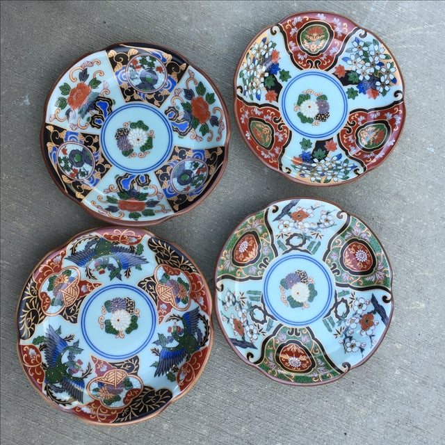 Vintage Japanese Porcelain Side Dishes - Set of 4 - Image 2 of 11