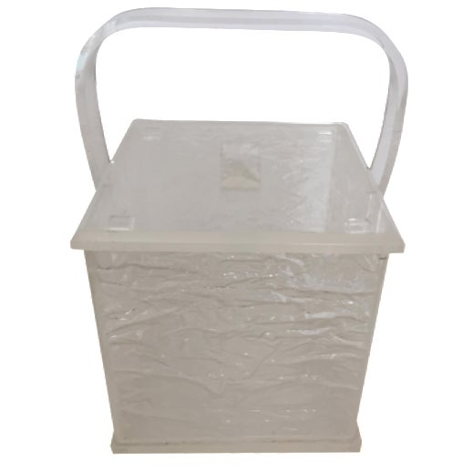 Lucite Chopped Ice Deisgn Ice Bucket - Image 1 of 7