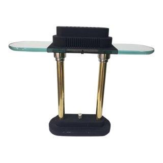 1980s Postmodern Halogen Desk Lamp by Robert Sonneman for George Kovacs For Sale