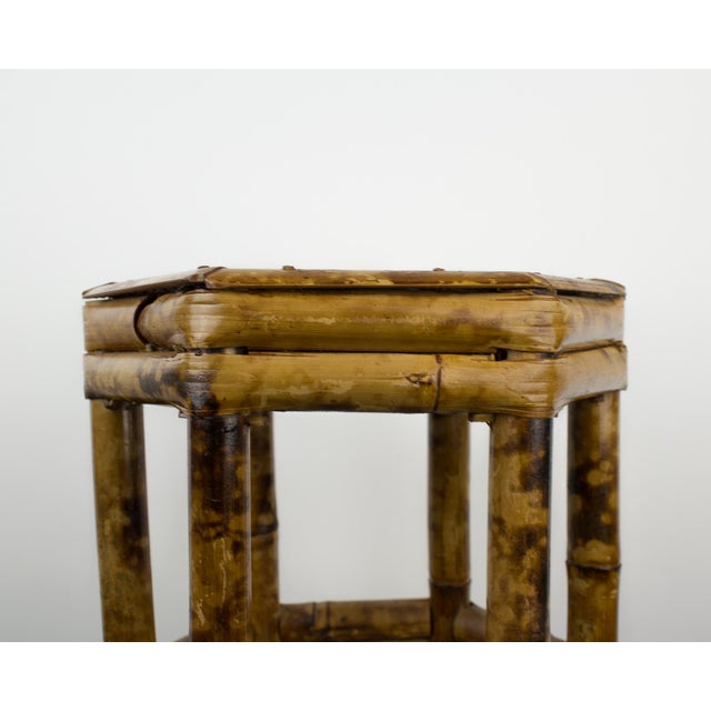 Asian Tortoise Bamboo Plant Stand Table For Sale - Image 3 of 8