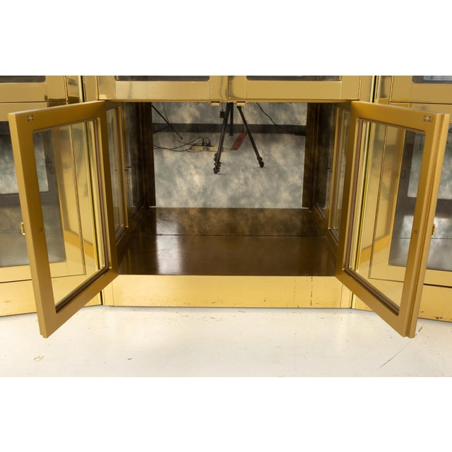 Mastercraft Mid Century Brass Display Cabinet - Set of 3 For Sale - Image 11 of 13