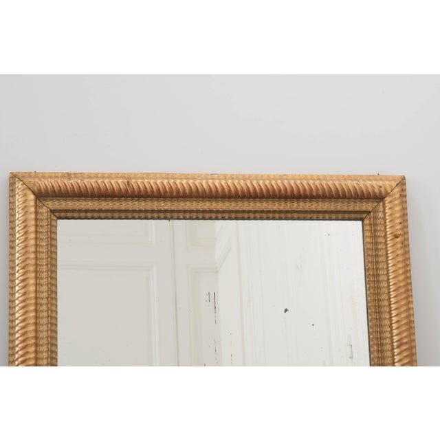 Gold French 19th Century Rectilinear Gold Gilt Mirror For Sale - Image 8 of 9