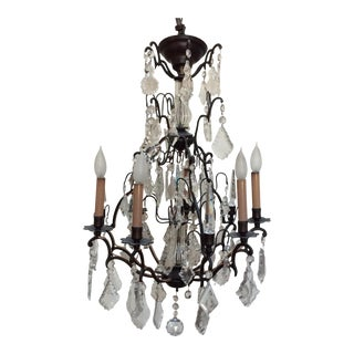 Antique Six Light French Chandelier For Sale