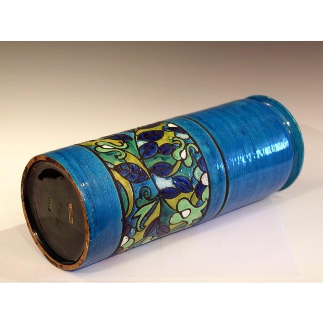 Rosenthal Netter Huge Bitossi Pottery Londi Vase Italian Rn Label Raymor Ceramic Umbrella Stand For Sale - Image 4 of 9