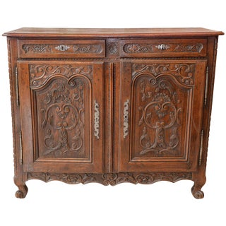 19th Century Carved Oak Buffet