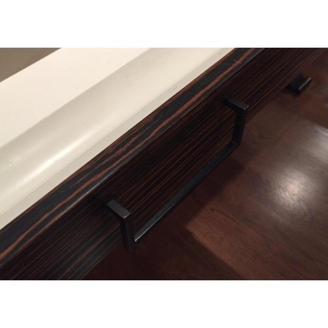 Lawson Fenning Black Steel & Wood Desk - Image 5 of 6