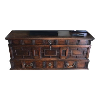 17th C. Walnut Continental Chest For Sale
