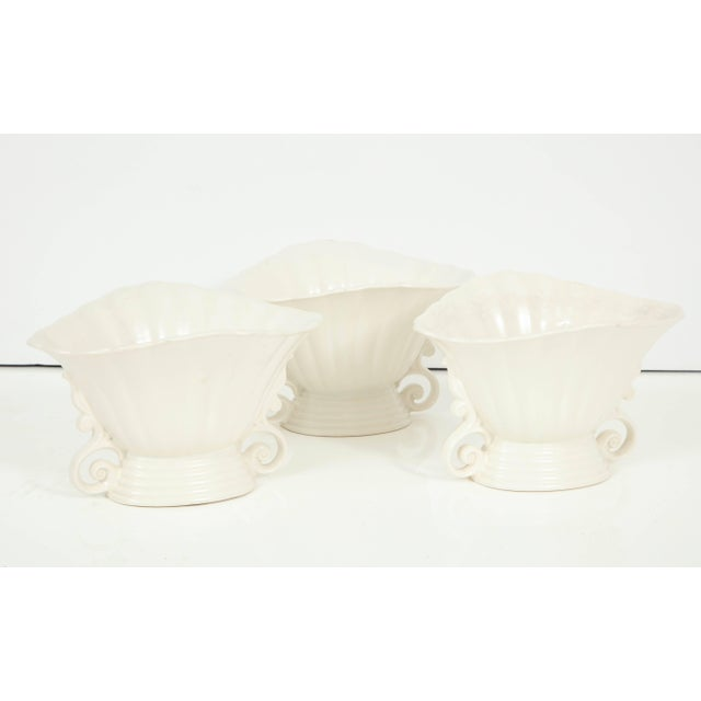 English Trio of White Wade Vases - Set of 3 For Sale - Image 3 of 11