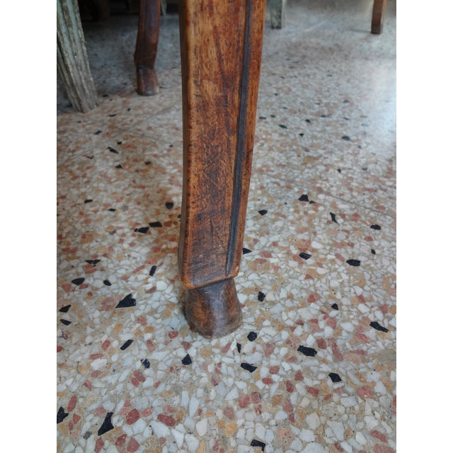 Brown Louis XV Walnut Side Table For Sale - Image 8 of 11
