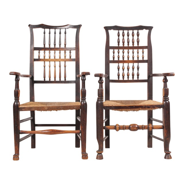 Antique Elizabethan-Style Spindle Chairs - A Pair - Image 1 of 11