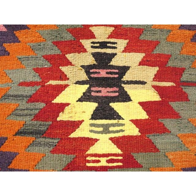 Vintage Turkish Kilim Rug For Sale - Image 5 of 8
