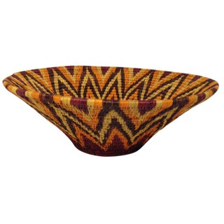 Woven African Basket Bowl For Sale