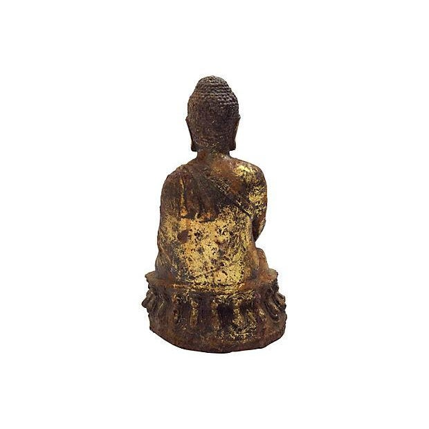 Antique Seated Altar Buddha For Sale - Image 5 of 5