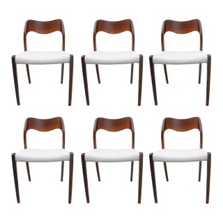 Model 71 Rosewood Dining Chairs by Niels O. Møller for JL Møllers, 1951 For Sale