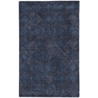 Jaipur Living Jace Handmade Geometric Dark Blue Area Rug - 5′ × 8′