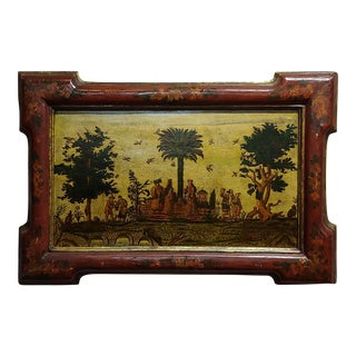 17th Century Chinese Outdoor Scene Oil Painting For Sale